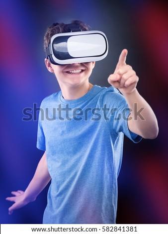 Gyermek szemüveg modern technológiák számítógépes játékok kifestőkönyv Stock fotó © natali_brill