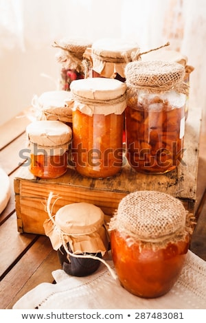 Colorful blossoms in preserving jar  Stock photo © adrian_n