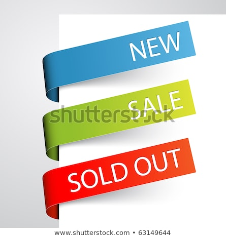 green paper tags for new discounted items stock photo © orson
