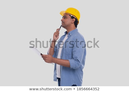 Engineer holding up a blank clipboard Stock photo © photography33