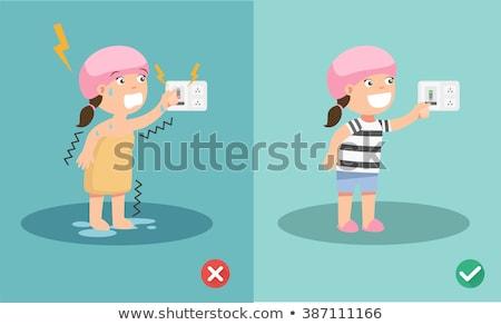 Woman electrocuting Stock photo © photography33
