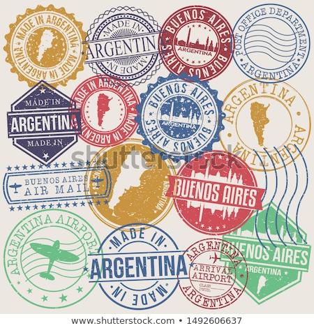Vektör etiket Arjantin renk damga satış Stok fotoğraf © perysty
