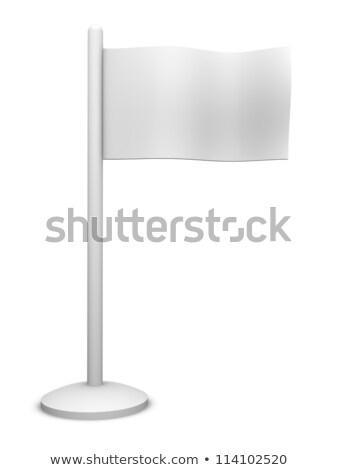 ジェネリック 白 フラグ 3D レンダリング 実例 ストックフォト © Spectral