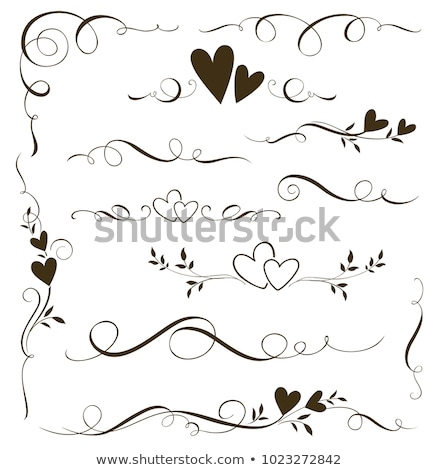 hearts ornamental stock photo © urchenkojulia