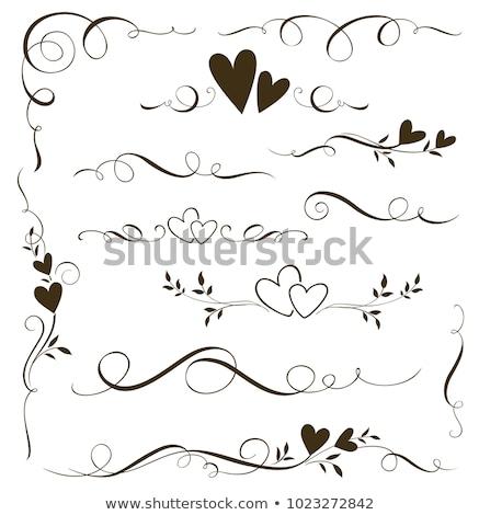 Stock photo: Hearts ornamental