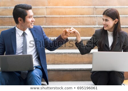 project workers greeting each other stock photo © photography33