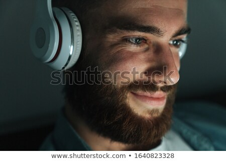 close up of brunette with earphones Stock photo © photography33