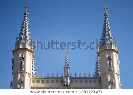 Stone Columns Arches Gothic Catholic Barcelona Cathedral Basilic Stock photo © billperry