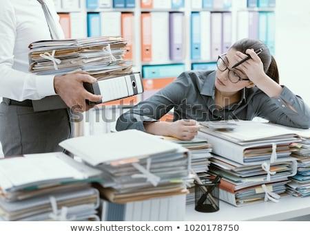 secretary bringing folders to her boss Stock photo © photography33