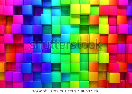 colorful rainbow cubes stock photo © ixstudio