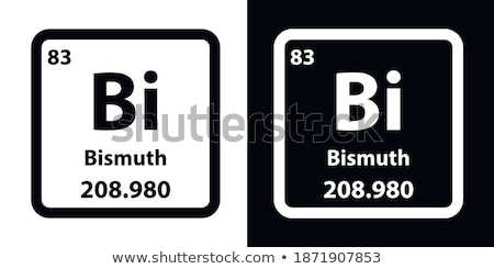 Symbol for the chemical element bismuth Stock photo © Zerbor