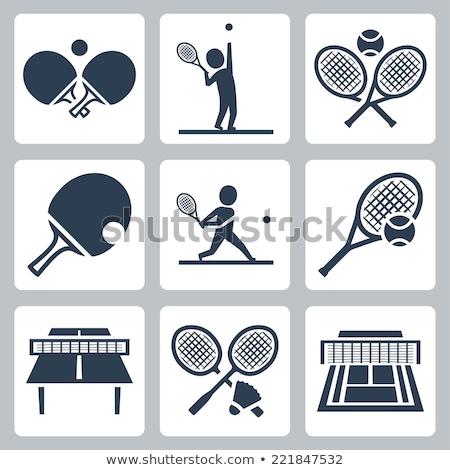 Table tennis racquet Stock photo © forgiss