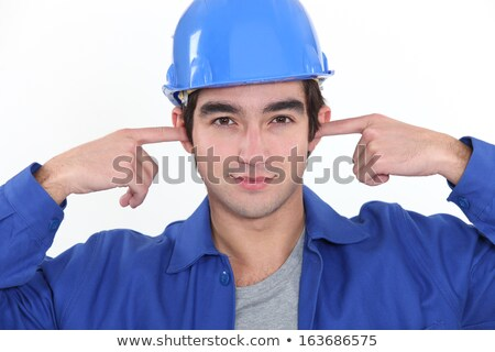 craftsman plugging his ears Stock photo © photography33