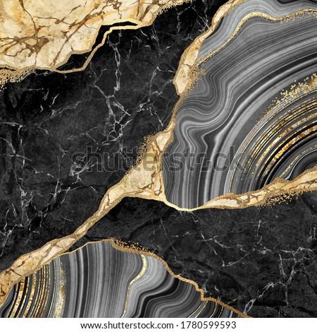 golden marble-stone mosaic Stock photo © ssuaphoto