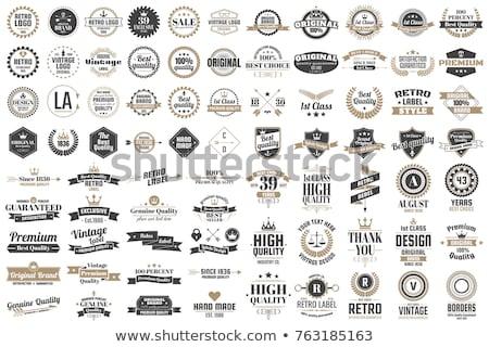 Etiket logo ayarlamak vektör Internet çalışmak Stok fotoğraf © burakowski