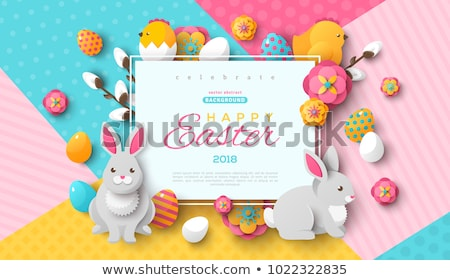 Child as easter hare  Stock photo © ivonnewierink
