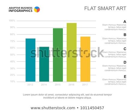 Bar Graph Business Chart Slide Stock photo © cteconsulting