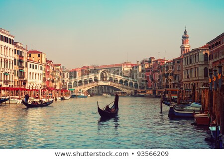Jetty on canal in Venice Stock photo © deyangeorgiev