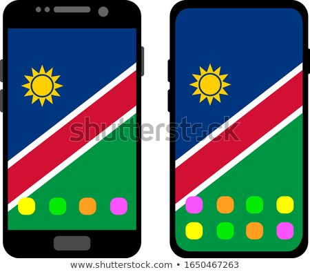 смартфон флаг Намибия телефон интернет телефон Сток-фото © vepar5