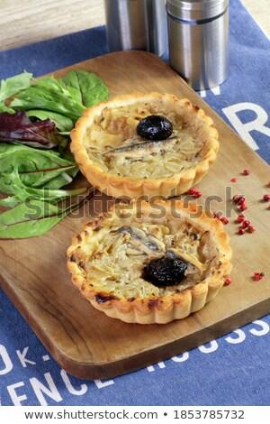 оливкового · пиццы · продовольствие · древесины · сыра · нефть - Сток-фото © m-studio