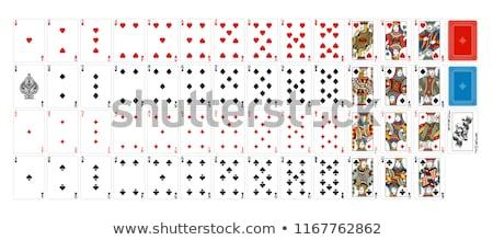 Packung · Karten · Königin · Herzen · weiß · Spiel - stock foto © gemenacom