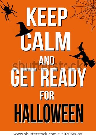 keep calm on Halloween Stock photo © adrenalina