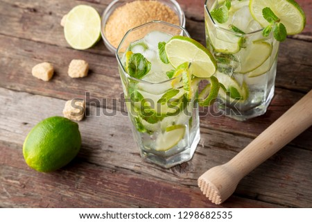 vidro · limonada · mojito · piscina · comida · fundo - foto stock © dariazu