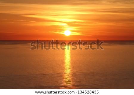 Güzel gün batımı üzerinde deniz doğa manzara Stok fotoğraf © amok