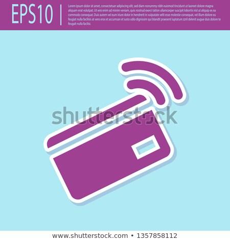 NFC Sign Purple Vector Icon Design Stock photo © rizwanali3d