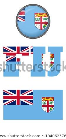 Kaart vlag knop republiek Fiji vector Stockfoto © Istanbul2009