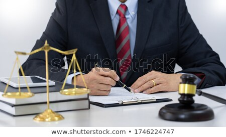 A law book with a gavel - Private law Stock photo © Zerbor