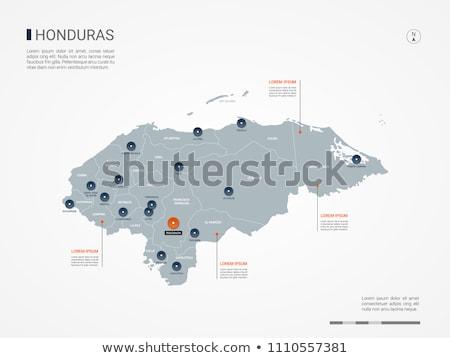 orange button with the image maps of honduras stock photo © mayboro