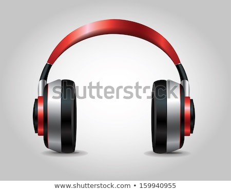 Head Phone Red Vector Icon Design Stock photo © rizwanali3d