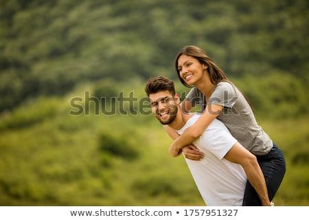 sensueel · scène · aantrekkelijk · paar · man · sexy - stockfoto © fuzzbones0