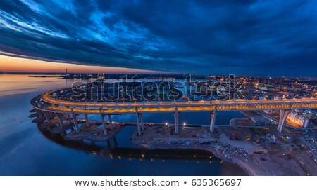 industrial area with cranes stock photo © mady70