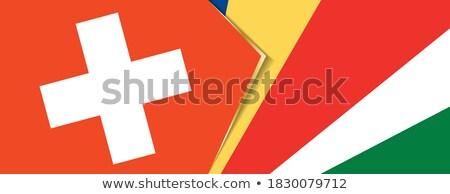 Switzerland and Seychelles Flags Stock photo © Istanbul2009