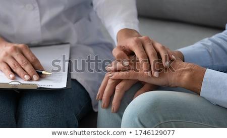 Foto d'archivio: Terapeuta · braccio · bianco · help · femminile