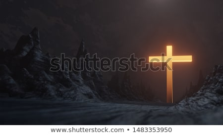 Krzyż zbawienie poświata biały rzeki Zdjęcia stock © rghenry