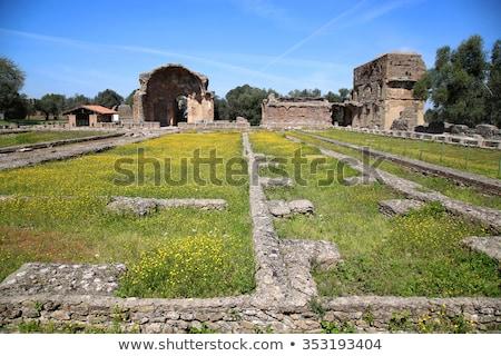 ancient ruins of villa adriana the hadrians villa piazza d stock photo © vladacanon