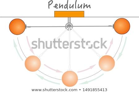 Slinger illustratie opknoping zeven bollen metaal Stockfoto © Lom