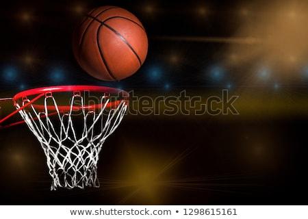 kosárlabda · kint · fiatal · kosárlabdázó · vezetés · magas - stock fotó © luissantos84