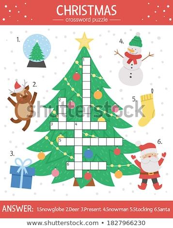 Puzzle szó idő kirakó darabok építkezés játék Stock fotó © fuzzbones0