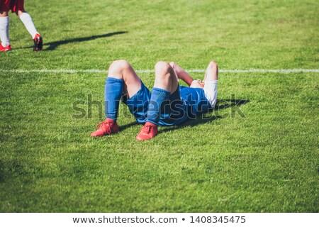 プレーヤー サッカー 一致 草 スポーツ ストックフォト © smuki