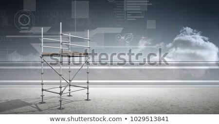 Sky landscape with technology interface and 3D Scaffolding Stock photo © wavebreak_media