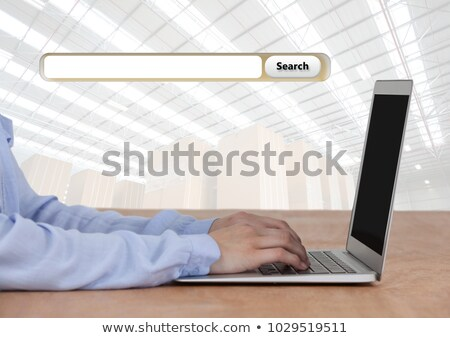 Stock fotó: Search Bar with storage text and businesswoman