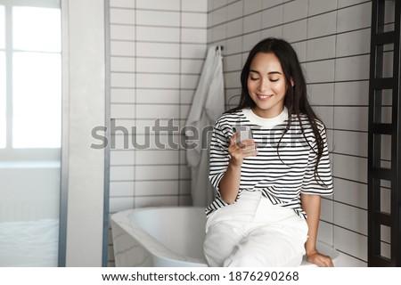 Woman in bathtub, charming Stock photo © IS2