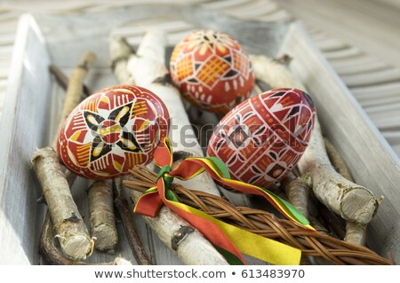 Two Easter Eggs with Ornamental Pattern Stock photo © derocz