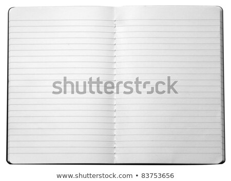 Blank open lined notebook isolated on white Stock photo © daboost