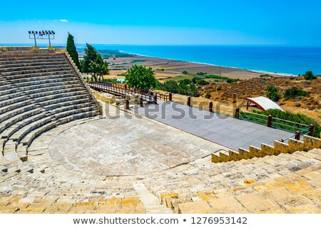 ancient curium amphitheatre in kourion cyprus stock photo © boggy
