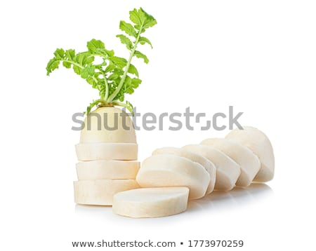 White daikon radishes in the market Stock photo © kenishirotie